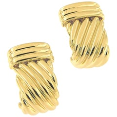 Charles Turi 18 Karat Yellow Gold Earrings