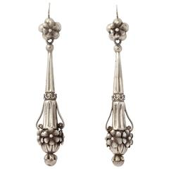 Georgian Chandelier Earrings in Rare Silver