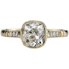 Cushion Cut Diamond Yellow Gold Engagement Ring