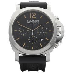 Panerai Stainless Steel Luminor daylight Automatic Wristwatch Ref PAM356