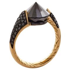 Black Diamond and Gold Bear Claw Ring by Bear Brooksbank