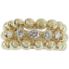 "Boucheron ""Grain de Raisin""  Diamond Gold Ring"