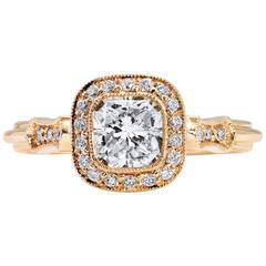 1.03 Carat Radiant Cut Diamond Engagement