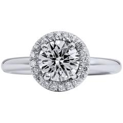 1.20 Carat Round Brilliant Cut Diamond Engagement Ring