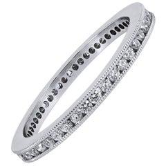 Handmade Brilliant Cut Diamond Platinum Eternity Band Ring