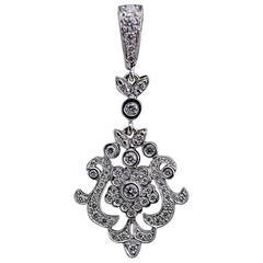 Penny Preville Diamond Anastasia Floral Drop Pendant
