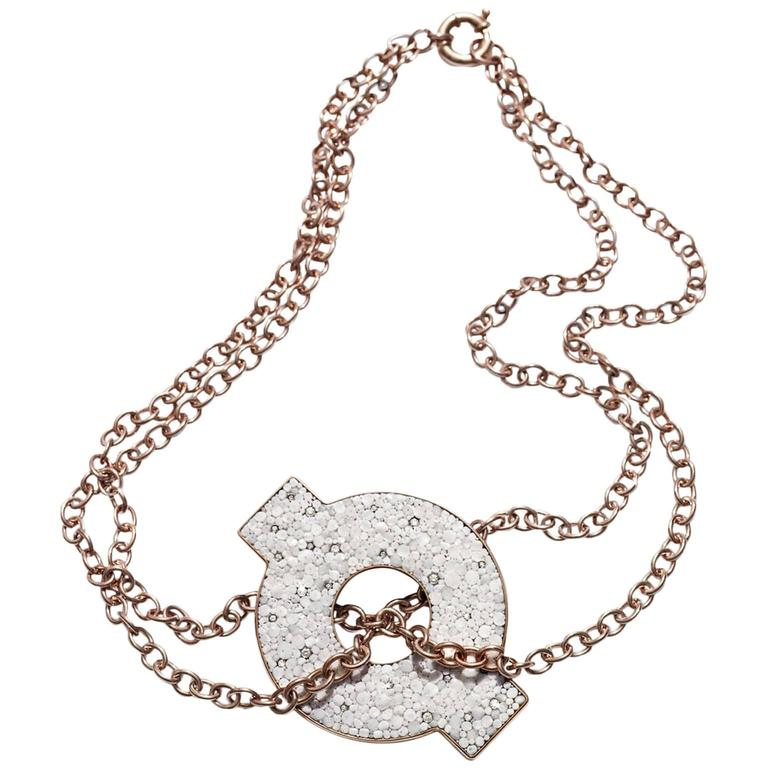 Sicis Atollo Gold Diamonds Micromosaic Necklace