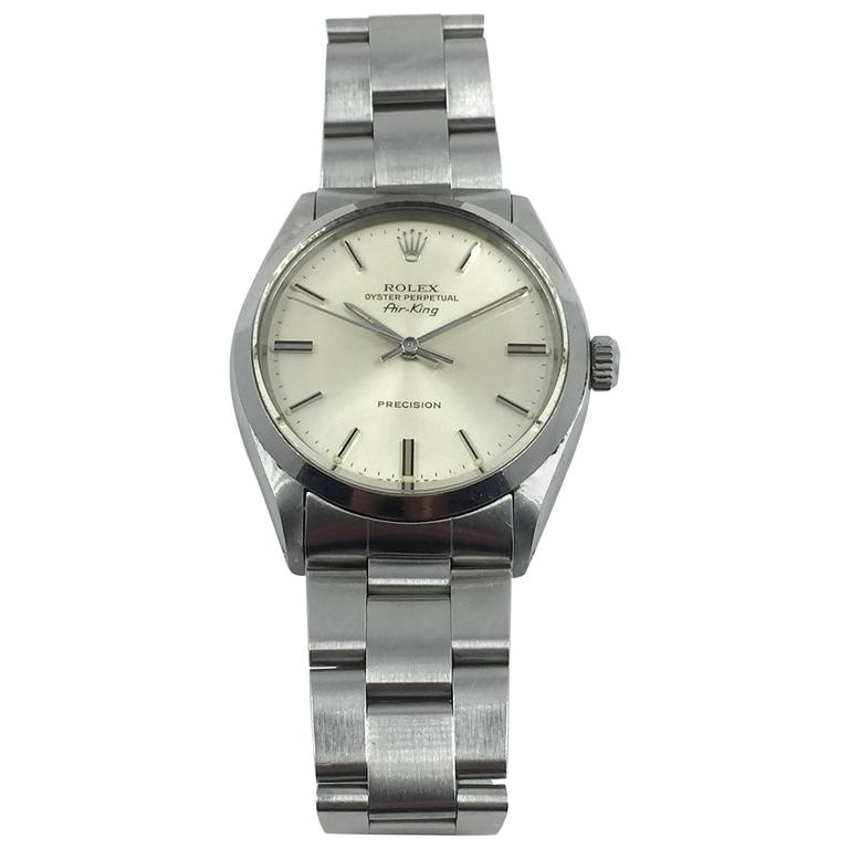 Rolex Stainless Steel Oyster Perpetual Air-King Automatic Wristwatch