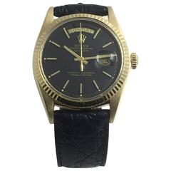 Rolex Yellow Gold Oyster Perpetual Day-Date Automatic Wristwatch