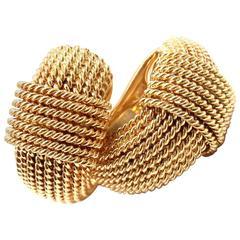 Roberto Coin Ruby Yellow Gold Hoop Earrings