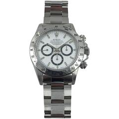 Rolex Stainless Steel Oyster Perpetual Daytona Cosmograph Wristwatch
