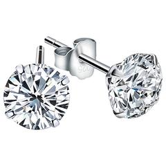 6.13 Carats Fancy Diamond Studs Earrings