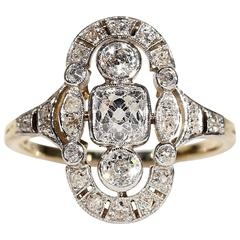 Edwardian Diamond Gold Platinum Ring