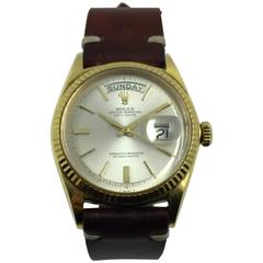 Rolex Yellow Gold Day-Date Chronometer Automatic Wristwatch