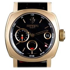 Panerai Rose Gold 8 Days GMT Ferrari Limited Edition Wristwatch