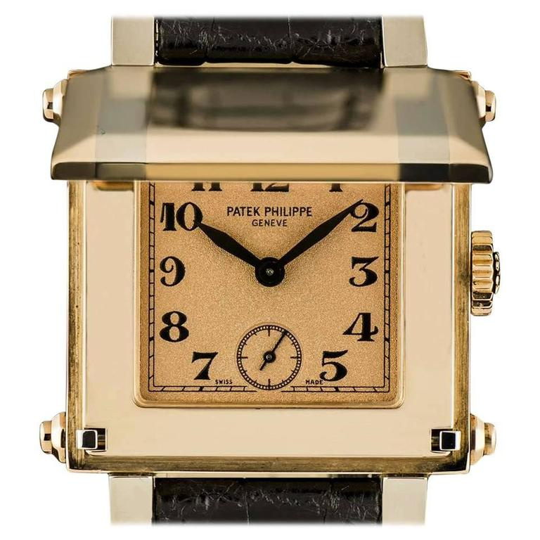 Patek Philippe Rose Gold White Gold Cabriolet Gondolo manual wind Wristwatch