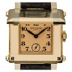 Patek Philippe Rose Gold Cabriolet Gondolo Manual Wind Wristwatch