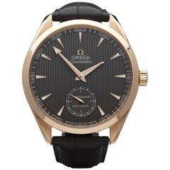 Omega Rose Gold Seamaster Aqua Terra Mechanical Wind Wristwatch