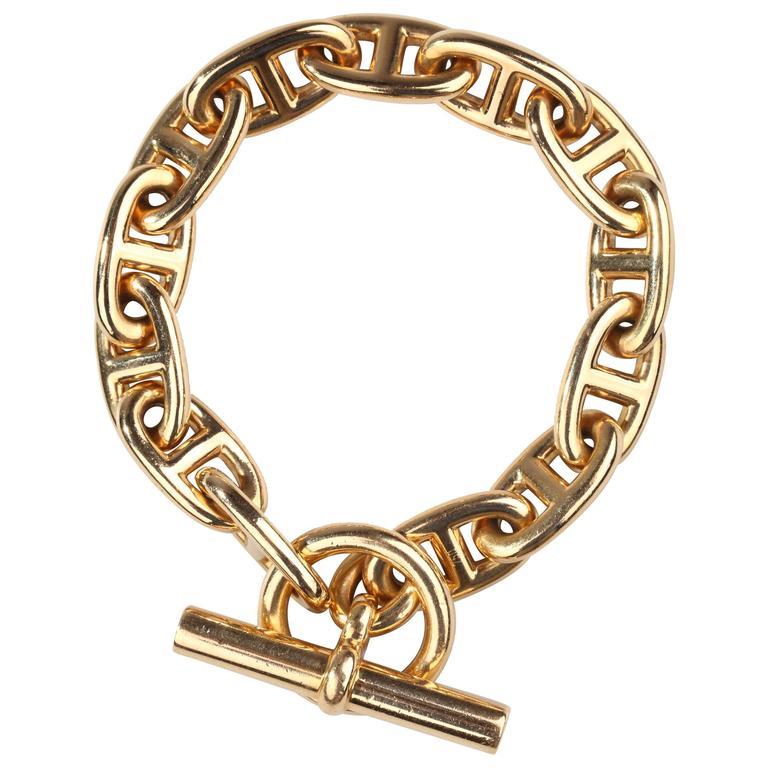 Hermes Paris Chaine d'Ancre Gold Bracelet 1