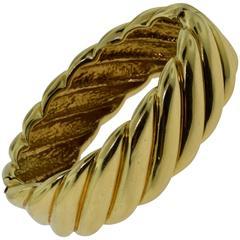 Cartier Wide Yellow Gold Swirl Bracelet