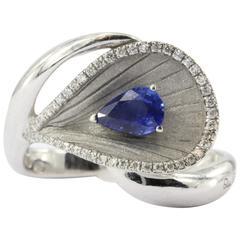 Annamaria Cammilli Premier Color Diamond and Sapphire White Gold Ring