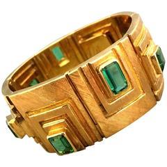 Burle Marx Modernist   Tourmaline Gold Bracelet