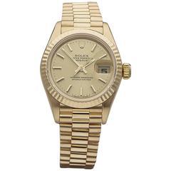 Rolex ladies Yellow Gold Datejust Automatic Wristwatch Ref 79178