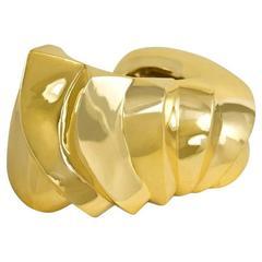 1970s Italian Gold Cuff Bracelet