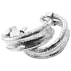Angela Cummings Set Of Two Sterling Silver Woven Cuff Bracelets