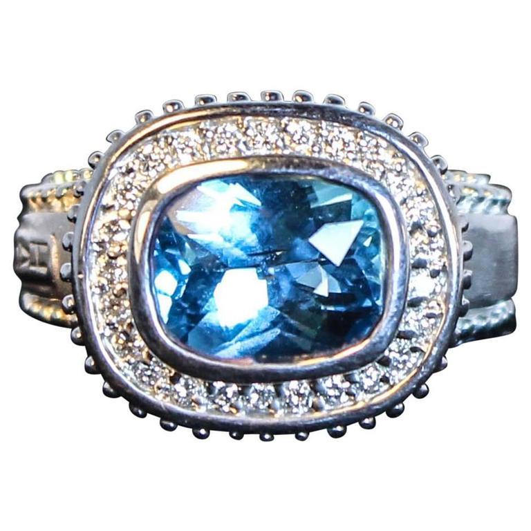 Topaz  White Gold Ring  For Sale