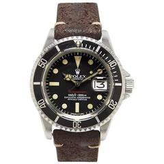 Rolex stainless steel Red Submariner automatic Wristwatch