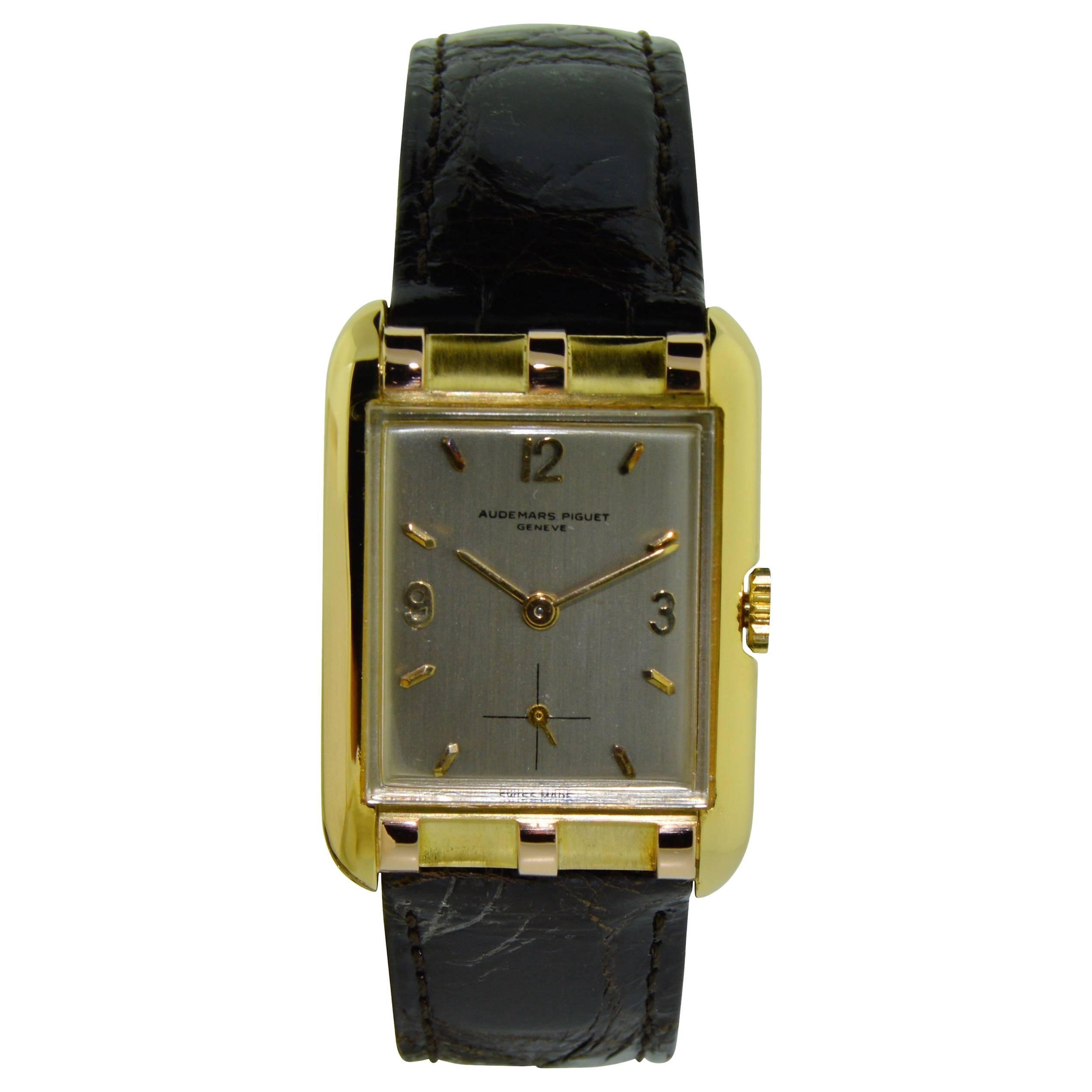 Audemars Piguet Yellow and Rose Gold Art Deco Watch