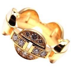 CARTIER Himalia Diamond Yellow Gold Band Ring