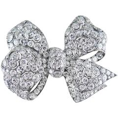Boucheron Art Deco Diamond Bow Brooch