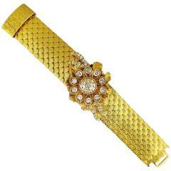 Kutchinsky Diamond Gold Scalloped Floral Bracelet