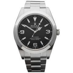 Rolex Stainless Steel Explorer I Model 214270 Automatic Wristwatch W3404