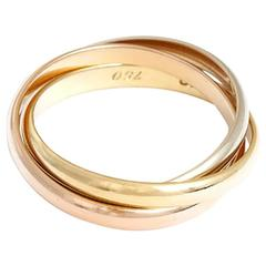 Cartier Trinity Gold Tri-Color Ring Sz. 55