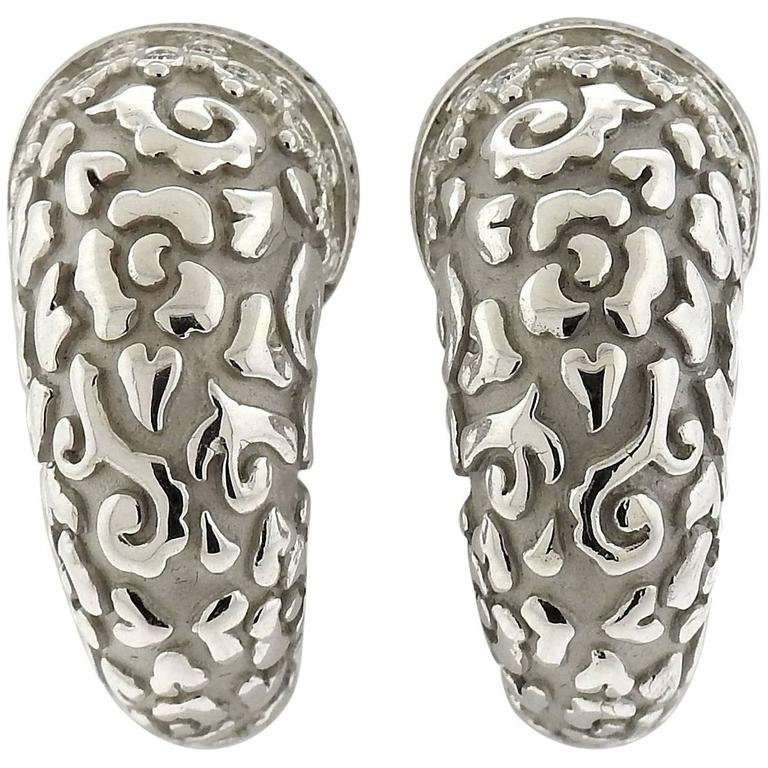 Carrera y Carrera Ava  Diamond  White Gold Earrings