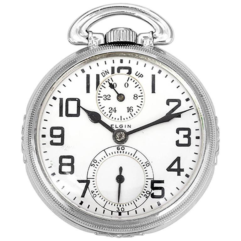 Elgin Rare Gold Filled Keystone Case Railroad Manual winding Pocket Watch