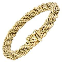 Tiffany & Co. Gold Rope Bracelet