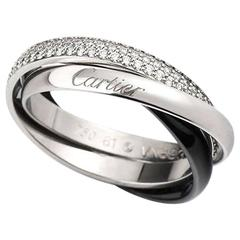 Cartier wedding rings 30 for sale at 1stdibs cartier trinity de cartier diamond white gold and ceramic ring junglespirit Choice Image