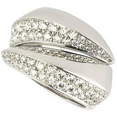 Cartier Diamond Set Demi-Parure Ring