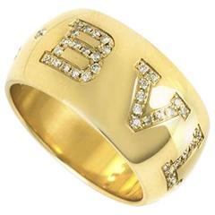 Bulgari Gold Diamond Monologo Ring