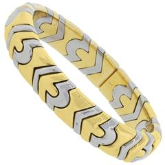 Bulgari Two Tone Gold Cuff Bracelet