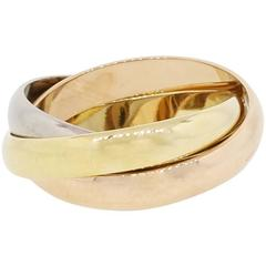 Tri Color Gold Ring Size 52