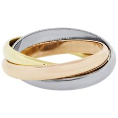 Cartier Trinity  Tri-Gold Ring Size 64