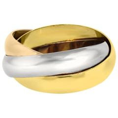 Cartier Trinity Tri-Gold Size 68 Men's Ring