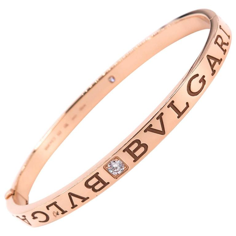 Bulgari Rose Gold Bangle Bracelet For