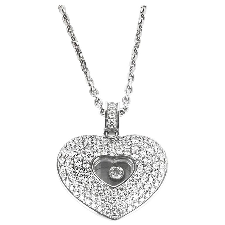 Chopard  Diamond Pave Heart Pendant 1