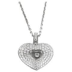 Chopard  Diamond Pave Heart Pendant